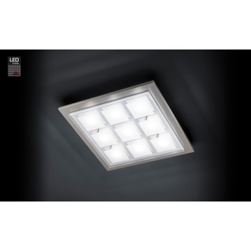 PLA 9X6.5W LED NICKEL MAT DOMI
