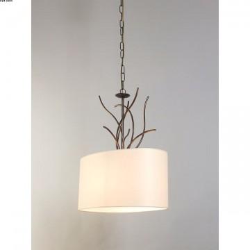 Suspension contemporaine une lumière marron/or