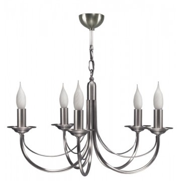 Lustre en laiton finition nickel CHATELET