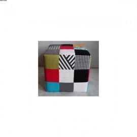 Pouf Carré PATCHWORK multicolore