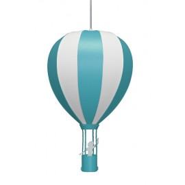 Suspension MONTGOLFIERE Turquoise  une lumière