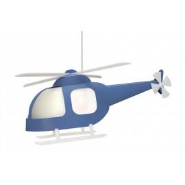 Suspension HELICOPTERE Bleu une lumière