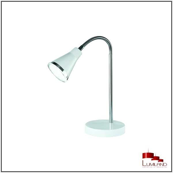 Lampe à poser ARRAS, Blanche, LEDS intégrées