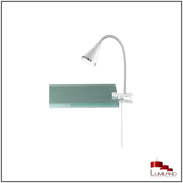Lampe à fixer ARRAS, Blanche, LEDS intégrées