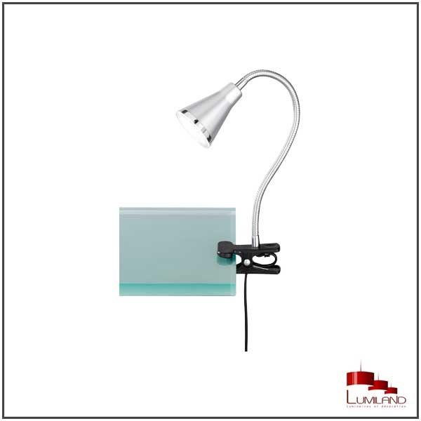 Lampe à fixer ARRAS, Titane, LEDS intégrées