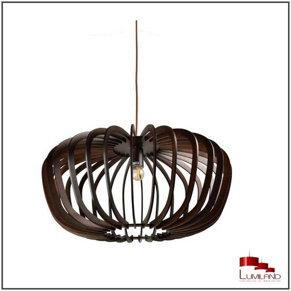 Suspension TILLEUL, Bois Black Coffee, D60 cm, 1 lumière, GM
