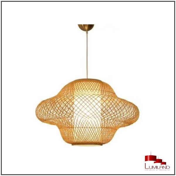 Suspension EGYPT, Bambou et Parchemin Naturel, 1 lumière, GM
