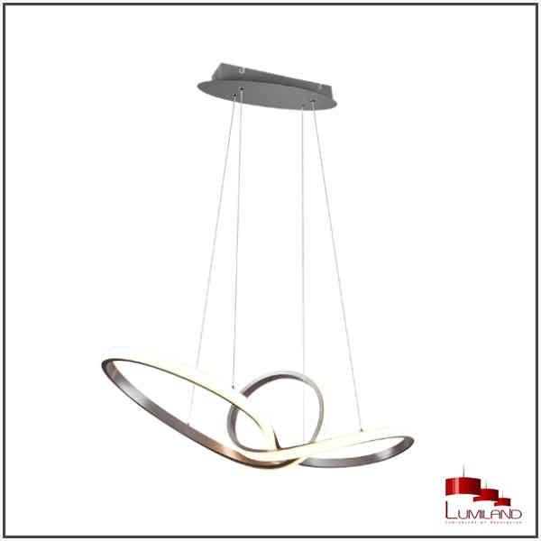 Suspension SANSA, Nickel Mat, LEDS Intégrées