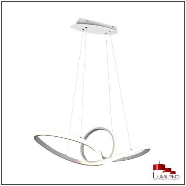 Suspension SANSA, Blanc Mat, LEDS Intégrées