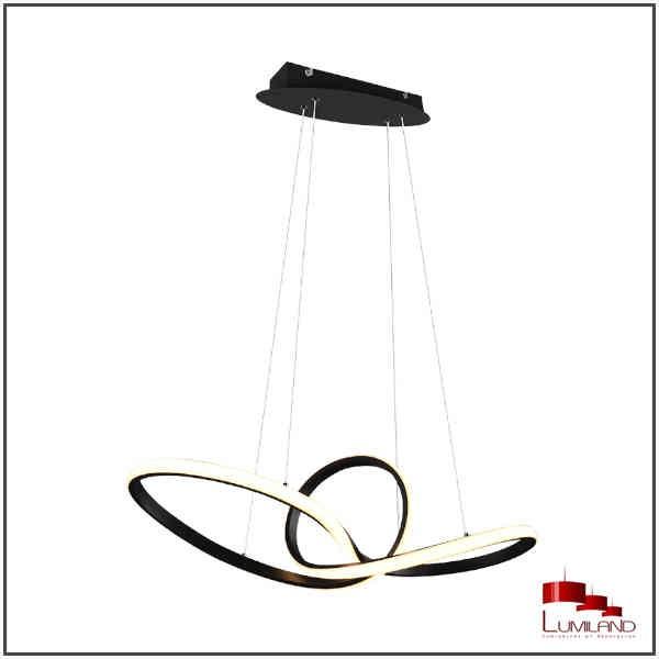 Suspension SANSA, Noir Mat, LEDS Intégrées
