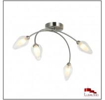 Plafonnier GALLINA, Nickel Satiné, 4 lumières