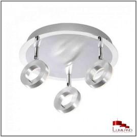 Plafonnier SILEDA, Alu, LEDS Intégrées