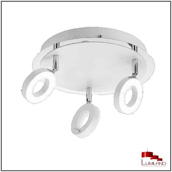 Plafonnier SILEDA, Blanc, LEDS Intégrées