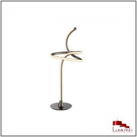 Lampe PUR, finition Nickel Mat, LEDS Intégrées.