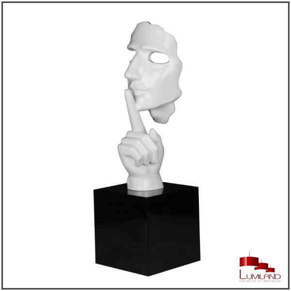 Statue SECRETO, Blanc