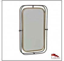 Miroir FACTORY métal Anthracite et Doré