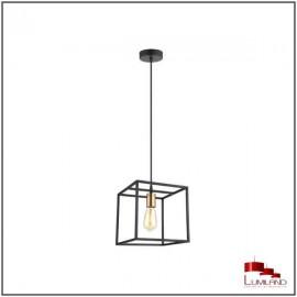 Suspension AGORA, Noire et Cuivre, 1 lumière