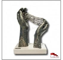 Sculpture Ode à La Musique, Bronze et Quartz