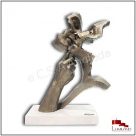 Sculpture WARMNESS, Bronze et Quartz