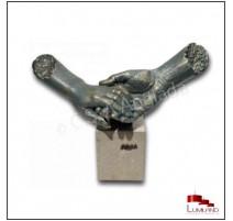 Sculpture Ta Main Dans la Mienne, Bronze et Quartz