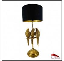 Lampe PERROQUETS, Noir et Or, 1 lumière.