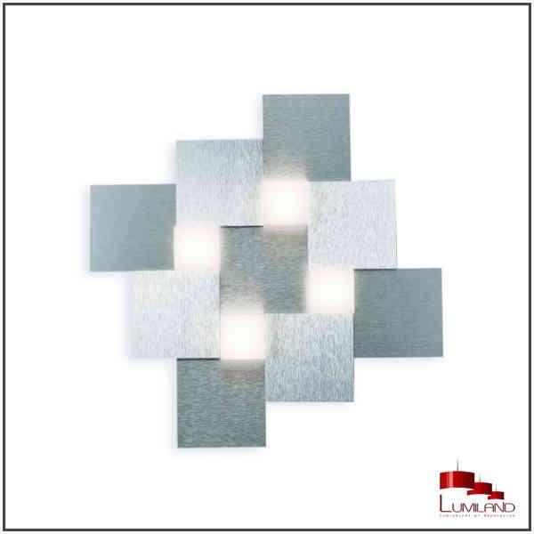 Plafonnier CREO, Alu, 4 LEDS Intégrées