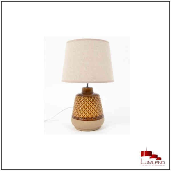 Lampe ZAGORA, Ambre et beige, 1 lumière, PM