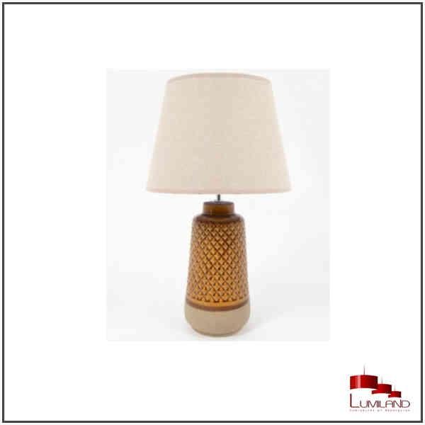 Lampe ZAGORA, Ambre et beige, 1 lumière, GM