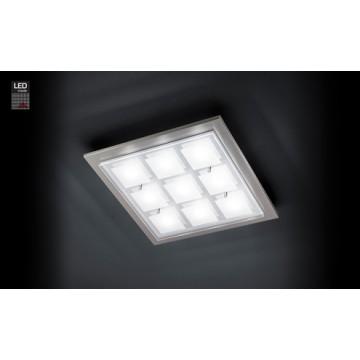 PLA 9X6.5W LED NICKEL MAT DOMI