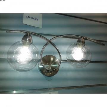 Applique deux lumières FILAMENT nickel satiné