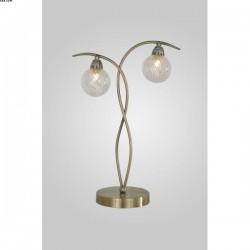 Lampe FILAMENT, Laiton patiné, 2 lumières.