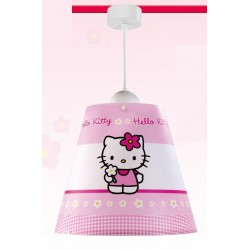 Suspension HELLO KITTY, Rose, 1 lumière