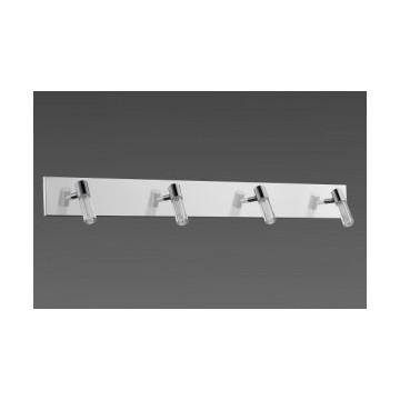 Réglette LED design quatre lumières chrome