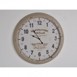 Horloge MANUFACTURE, Blanche et Beige