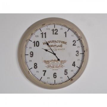 Grande horloge murale en métal MANUFACTURE