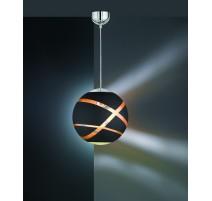 Suspension FARO 1 lumière Noir et Or