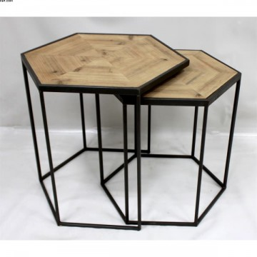 Set de deux tables gigognes
