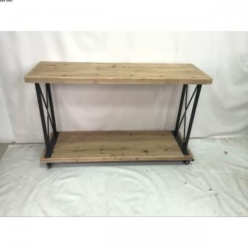 Console en bois naturel