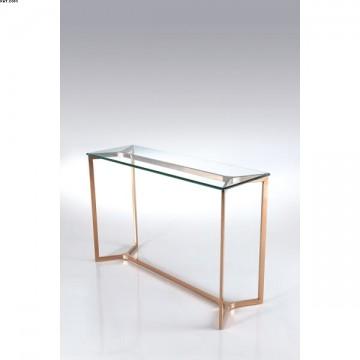 Console métal et verre