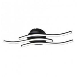 Plafonnier WAVE, Noir, LEDS Intégrées