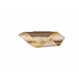 Applique ROLL, Feuille d'or, LEDS intégrées