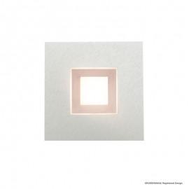 Plafonnier KARREE, Nacre et Cuivre, LEDS Intégrées