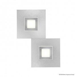 Plafonnier KARREE, Nacre et titane, LEDS Intégrées