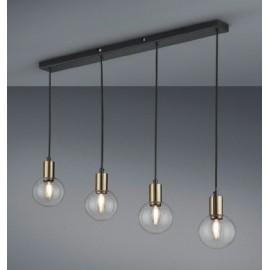 Suspension NACHO, Noir Mat, 4 lumières