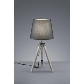 Lampe TRIPOD, Bois Gris, 1 lumière.