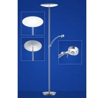 Lampadaire VIGO, Nickel Satiné, LEDS Intégrées + liseuse