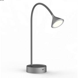 Lampe NOKE, Grise, LEDS intégrées, USB, Tactile