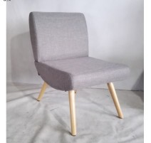 Fauteuil SIMPLY, Gris, pieds clairs