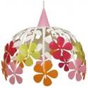 Suspension BOUQUET Fleurs Ivoire et multicolore  une lumière
