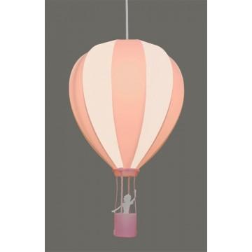 Suspension MONTGOLFIERE, Rose,  1 lumière.